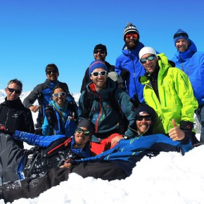 On the summit of Poncione Val Piana